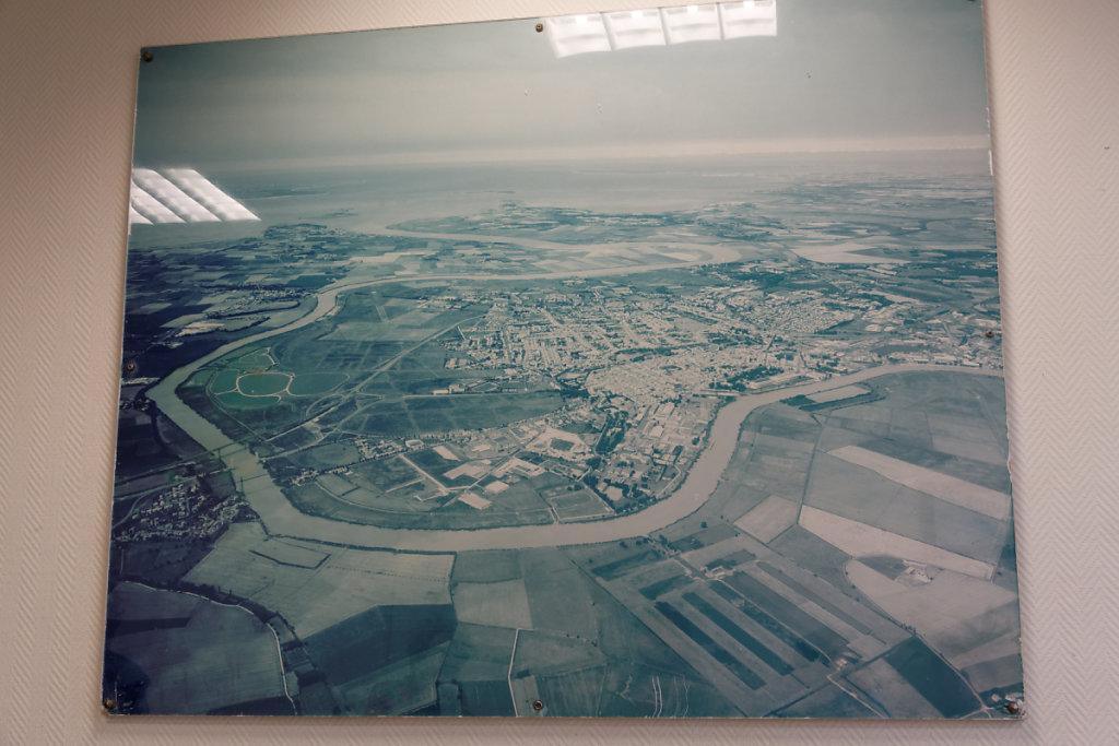 Vue aérienne de la station de lagunage de Rochefort