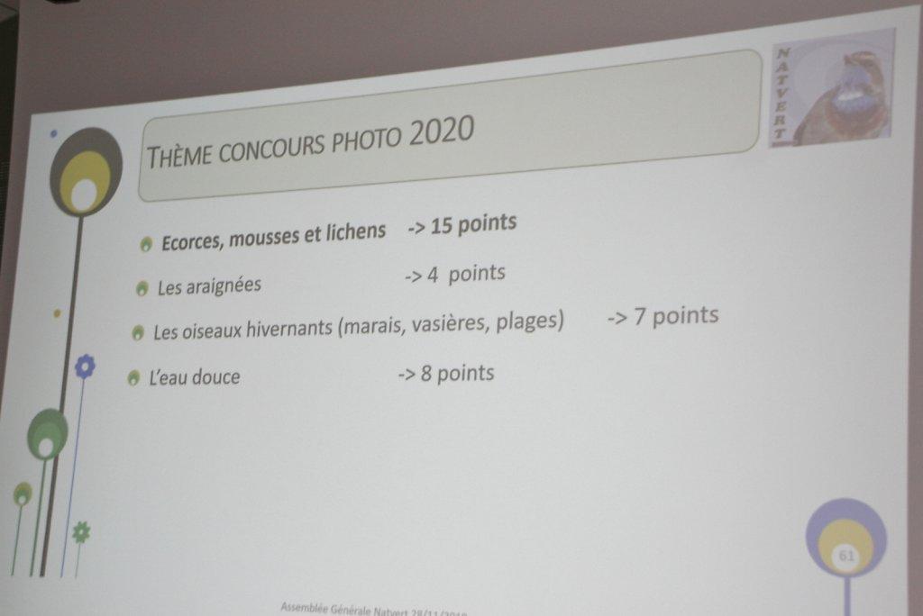 le thème du concours photo 2020